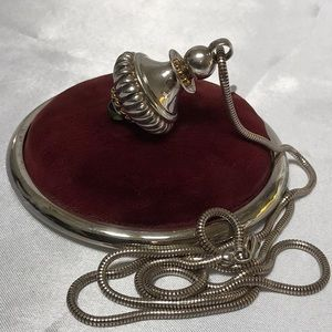 Jewelry - Sterling Silver & Peridot Perfume Flask With Chain